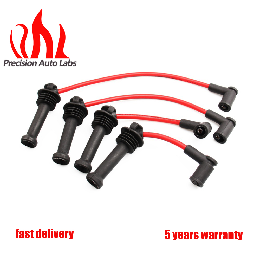 Precision Auto Labs New Spark Plug Ignition Wire Coil Set For 11 14 Ford Fiesta For Mazda 1 6l