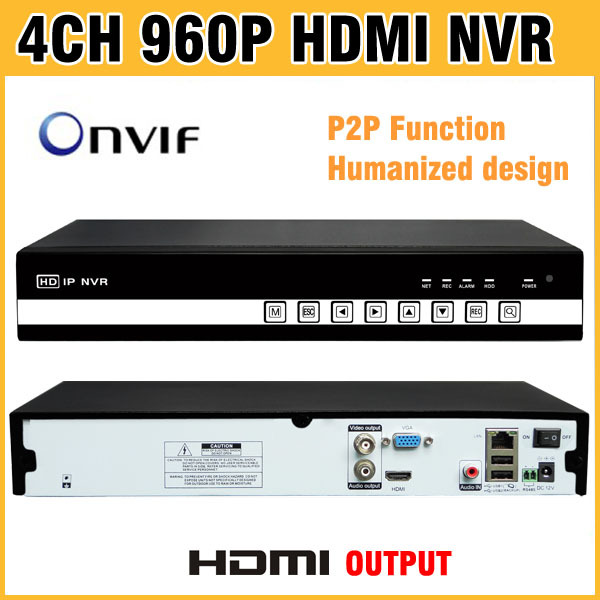High Quality 960P HDMI Output NVR 4CH H.264 ONVIF CCTV NVR 4 Channel Recorder  for NVR IP Camera NVR Kit Surveillance Systems cctv 4 channel h 264 ip surveillance nvr security ir waterproof camera systems