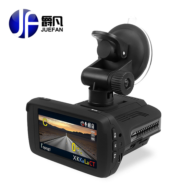 Juefan Автомобильный видеорегистратор камеры Радар-детектор S Даш видеокамера HD 1296 P Русский Радар-детектор охранной сигнализации транспортного средства контроля скорости GPS