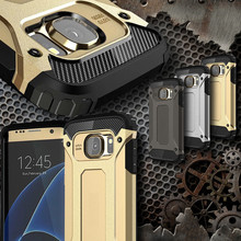 Luxury Tough Slim Durable Armor Phone Case For Samsung Galaxy S8 / Plus S5 S6 S7 Edge Hybrid TPU+PC Shockproof Protective Covers