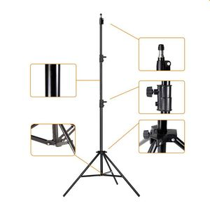 Image 2 - 50 70 160 200ซม.การถ่ายภาพขาตั้งกล้องยืนสำหรับRingLightถ่ายภาพกล้องRelfectors Softboxesพื้นหลังสตูดิโอชุด