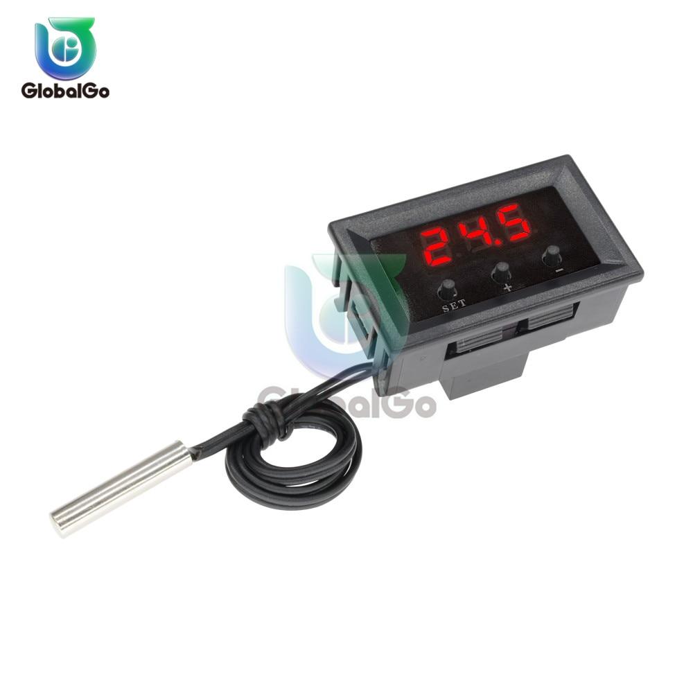 W1209 DC 12 V Digital de temperatura termostato termómetro temperatura regulador NTC Sensor de temperatura controlador de interruptor