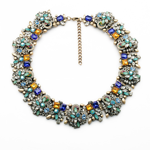 Newest Statement Choker Necklace Brand Vintage Necklace Jewelry Water Drop Multicolor Fashion Necklaces & Pendants Women Collar