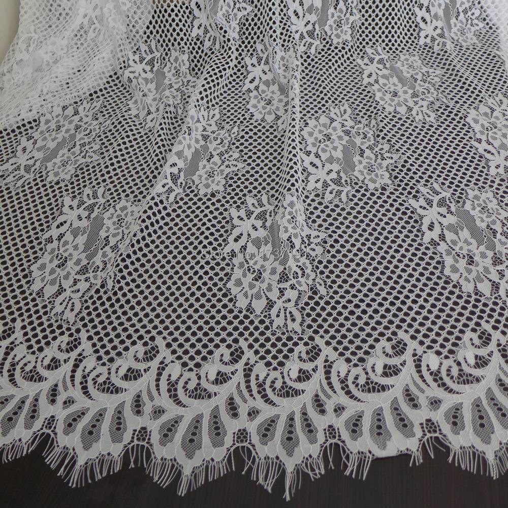 Compare prices on bridesmaid dress fabrics online shoppingbuy elegant wedding gown fabric white floral lace soft french chantilly lace fabric bridesmaid ombrellifo Images