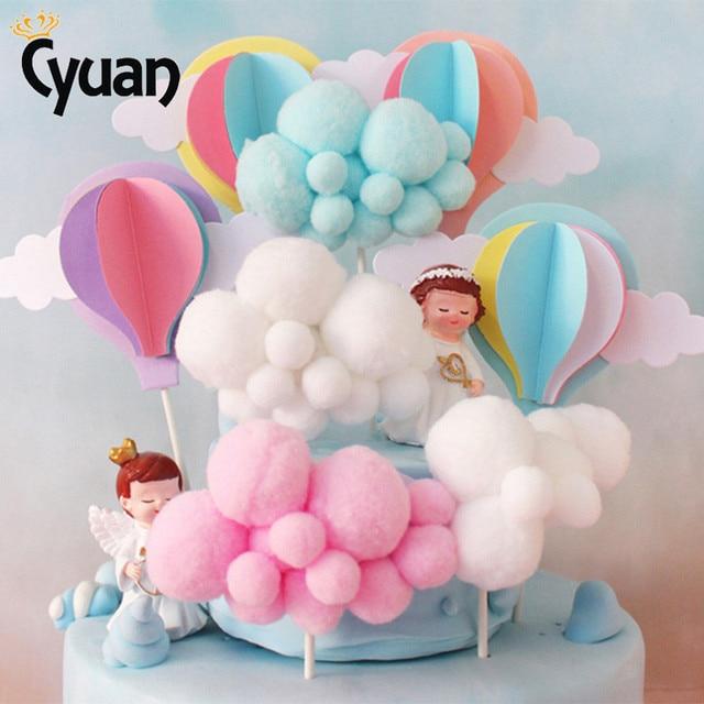 Aliexpress Com Buy Hot Air Balloon Cake Topper Cloud Cake Flags