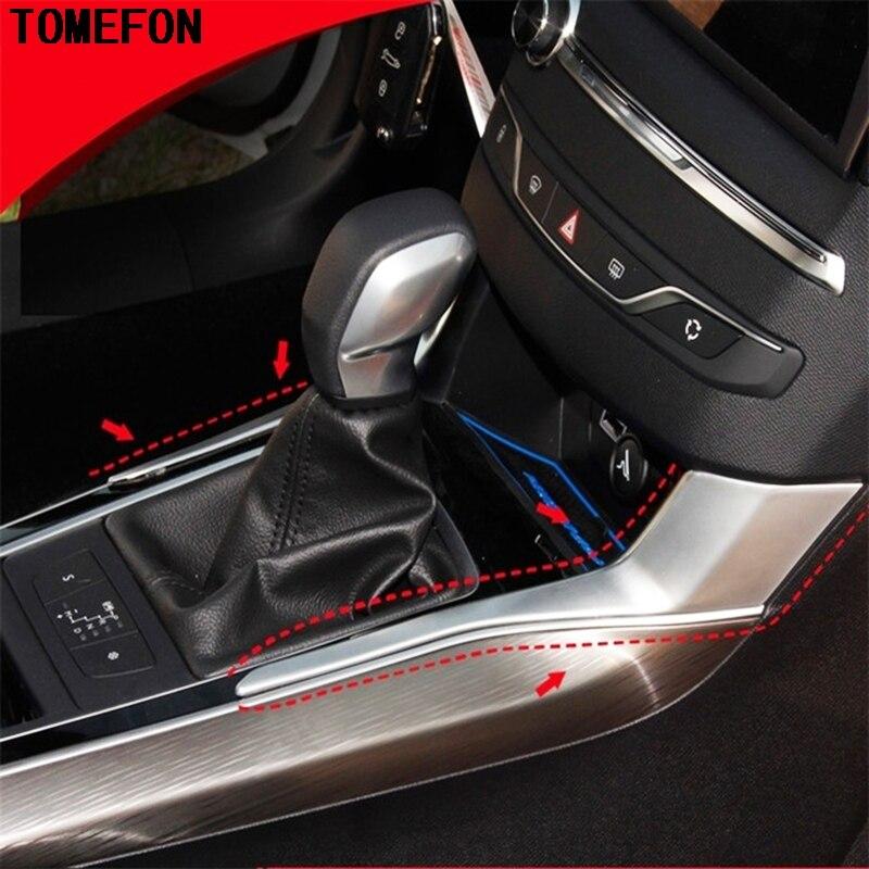 TOMEFON для peugeot 308 ABS хромированный автомобильный чехол для укладки рычага переключения передач, подставка, боковая накладка, 2 шт