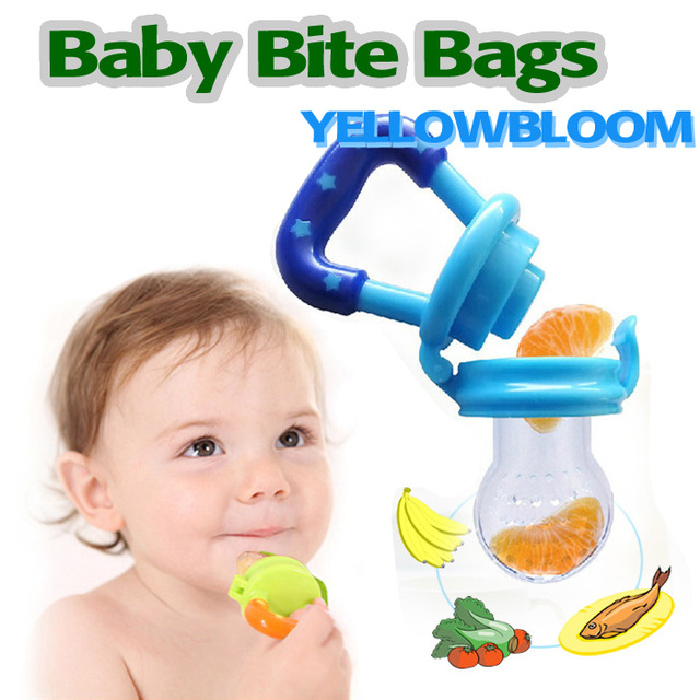 Baby Food Feeder Safe Pacifier Feeding Bottles Tool Kids Mesh Teeth Bite Bag Fruit Supplies