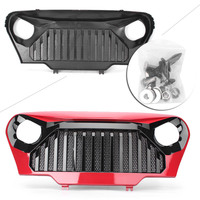 For Jeep Wrangler TJ Front Gladiator Grill Grille w/ Mesh 1997 2006 Red/Matte Black Automobile Spare Parts Accessories