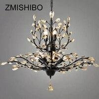 ZMISHIBO ретро Европа кристалл Стекло E14 7 голов подвесная люстра огни двойной Слои подвесной светильник для Обеденная светильник
