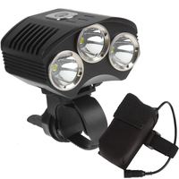 SecurityIng 1800 Lumens Bike Headlight 3x XM L T6 LED Bicycle Light with Power Indicator+4400mAh Battery Pack