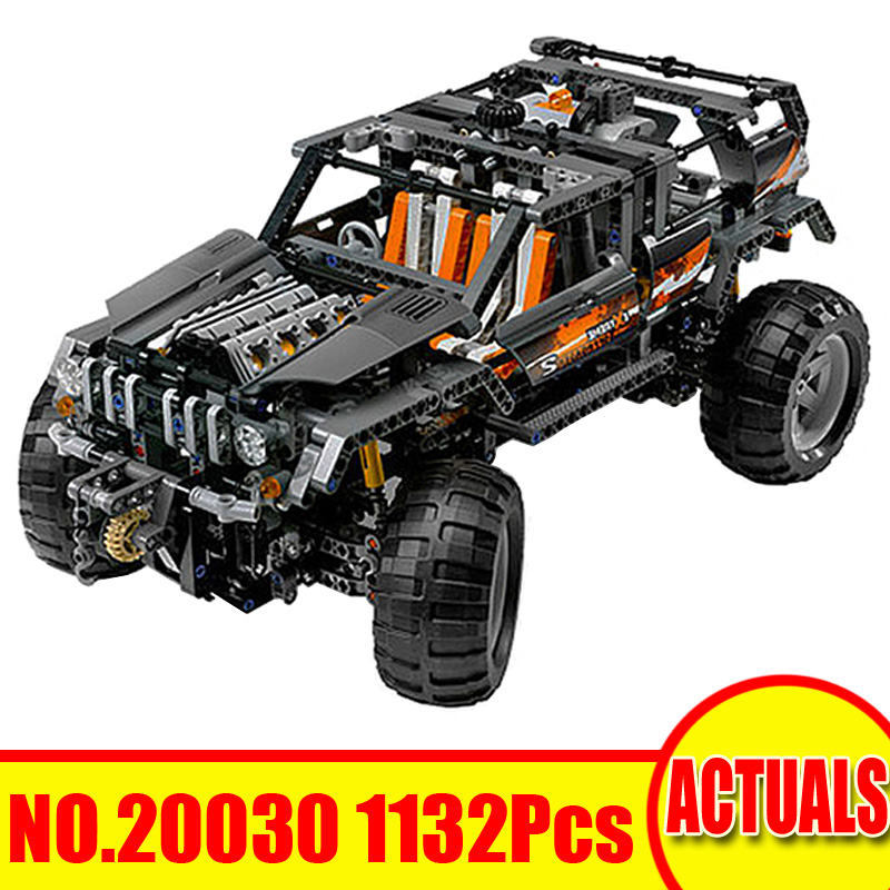 1132Pcs 20030 Lepin Technic Figures Model Building Kits Blocks Bricks The Off-Roader Toys Set For Children Compatible With 8297 lepin 20030 technic ultimate series the 1132pcs off roader set children educational building blocks bricks toys model gifts 8297