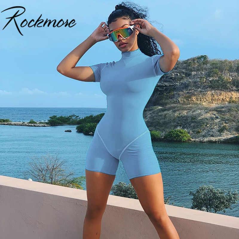 Rockmore синие летние облегающие байкерские шорты спортивный комбинезон женские боди Черный обтягивающий повседневный комбинезон Femme комбинезон уличная