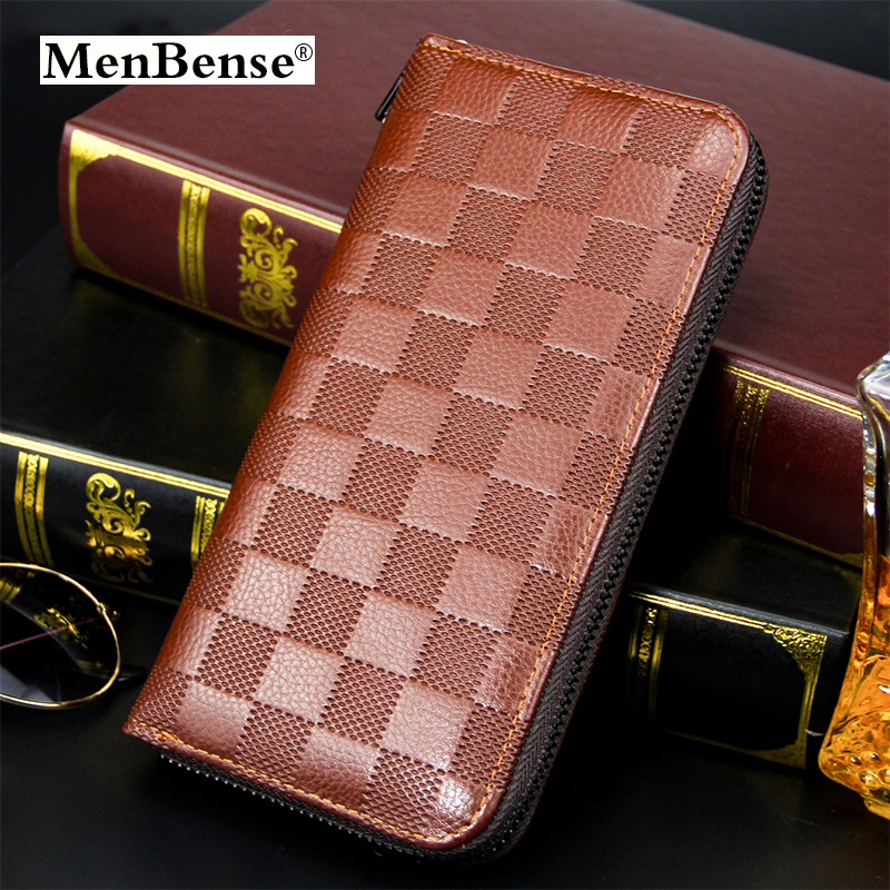Quality Male Clutch Zipper Long Wallet  Brand Leather Purse Luxury Simple Fashion Men Wallets Coin Purses Money Bag Card Holder
