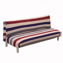 Blue And Red Stripes Armless Couch Sofa Covers For Living Room Universal  Elastic Sofa Bed Covers Removable Machine Washable