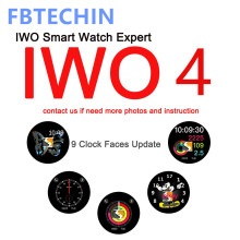 Bluetooth Smart Watch IWO4 42mm MTK2502C Heart Rate Monitor Message Notifier Watch W53 for IPHONE X 8 7 6 XIAOMI SAMSUNG Huawei