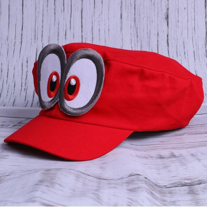 Game Super Mario Odyssey Adult Cap Child Cosplay Handmade Caps (4)