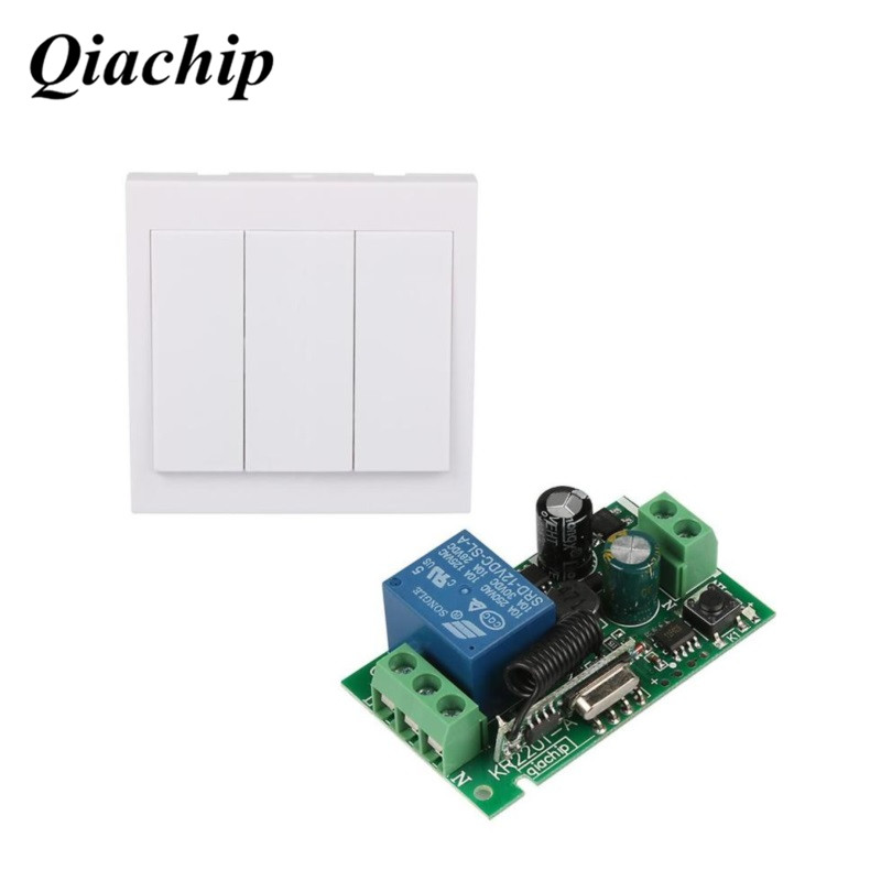 433Mhz Universal Wireless Remote Control Switch AC 110V 220V 1CH Relay Receiver 433Mhz 86 Wall Panel RF Remote Transmitter D35 mini stable 10a 220v 1ch rf remote control switch system for led bulb light strips receiver 86 wall panel transmitter