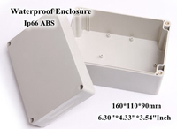 Abs Ip66 Waterproof Enclosure Electronic Plastic Box 160 110 90mm 6 30 4 33 3 54