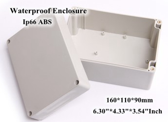 Abs Ip66 Waterproof Enclosure Electronic Plastic Box 160*110*90mm 6.304.333.54Inch Junction Distribution Switch Outdoor Box 175 175 100mm ip67 abs electronic enclosure box distribution control network cabinet switch junction outlet case 175x175x100mm