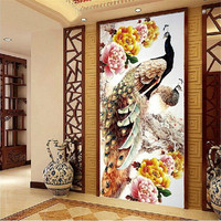 5D DIY Diamond Embroidery Peacock Pictures Home Decor Animal Diamond Painting Cross Stich Full Shiny Round