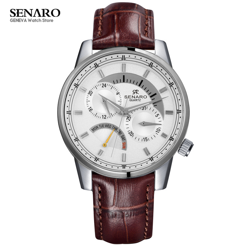 New SENARO Couple Watch Stainless Steel Genuine Leather Quartz Wrist Watch Luxury Men Women Watches Lover's Wristwatches relojes new fashion full stainless steel silver web band dress quartz wrist watch wristwatches for men women lovers couple