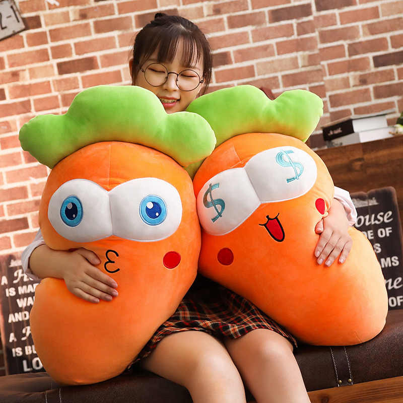 Hot 45/65/85cm Cretive Simulation Plush Toy Stuffed Carrot Stuffed With Down Cotton Super Soft Pillow Intimate Gift For Girl
