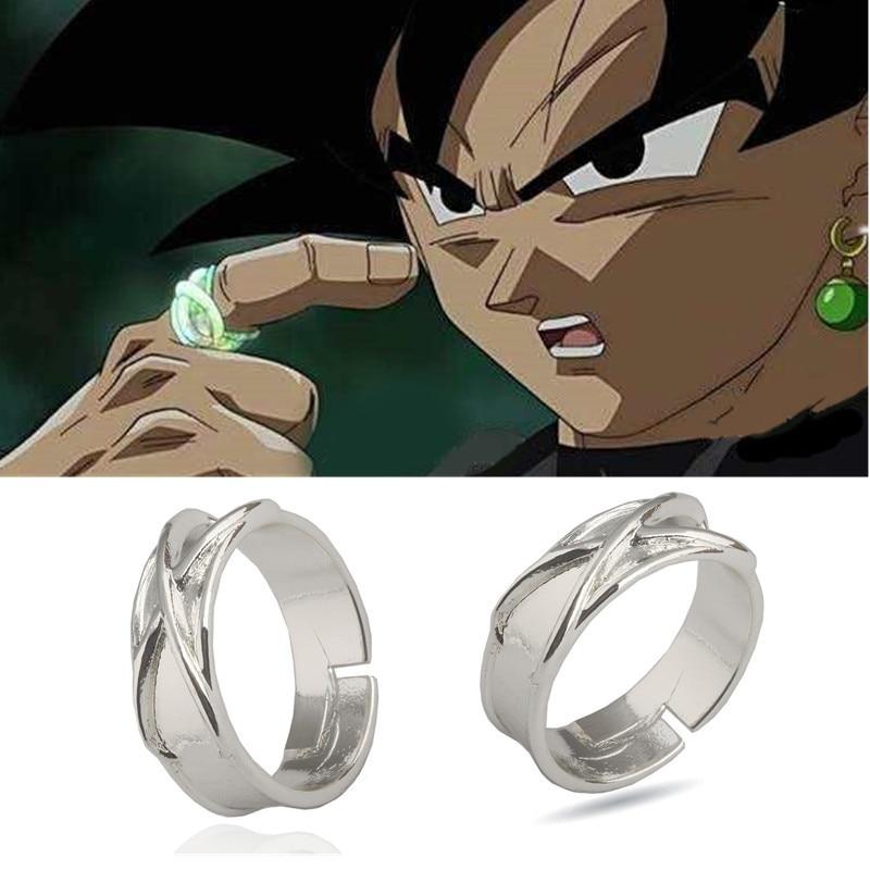 Anime Dragon Ball Ring Son Goku Rings Kakarotto Time Ring Super Saiyan Cosplay Costume for Women Men Trinket Jewelry Halloween