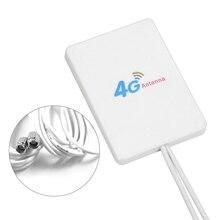 3G 4G LTE מודם נתב אנטנה 3M חוט 88dBi TS9 CRC9 SMA מחבר 4g LTE אנטנה פנל מחוון כפול מחבר