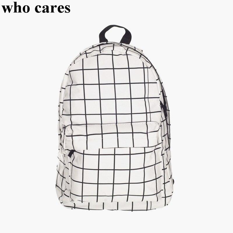 Nuovo zaino in tela plaid donne 2018 moda tendenza casual ragazze sacchetti di scuola stampa zaini borsa a tracolla uomini mochila