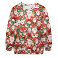 Women Sweatshirt Hoodies Stylish Santa Claus Christmas Long Sleeve Tracksuit Sweatshirt Jumper Pullover for Women