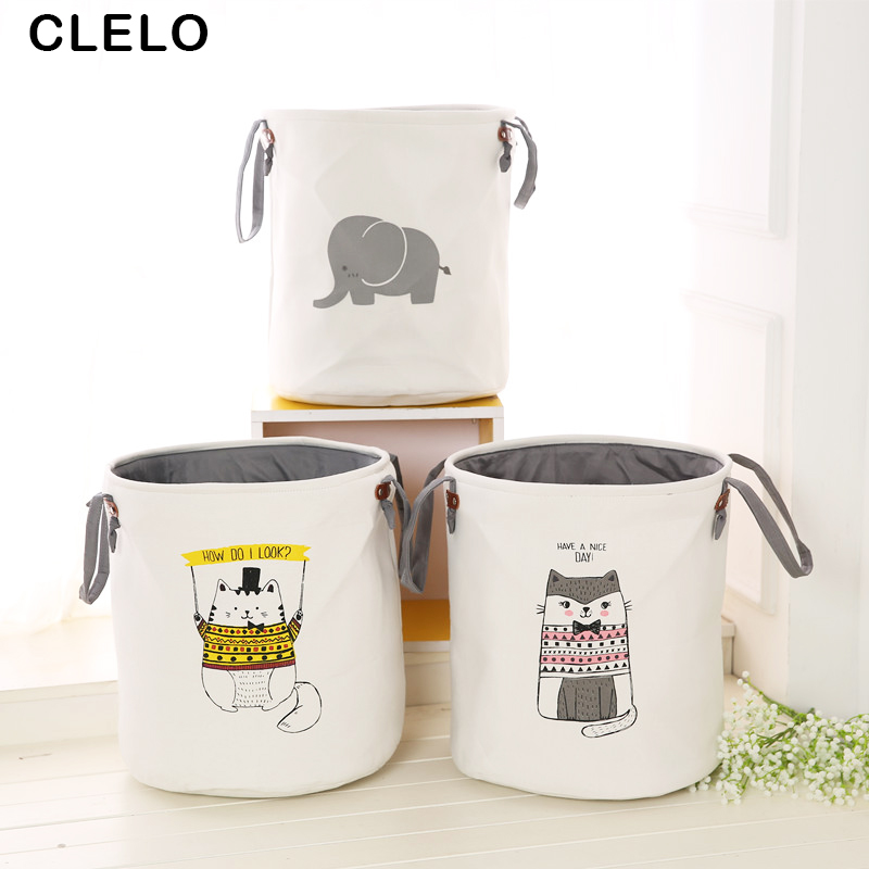 CLELO Waterproof Laundry bag with handle Double layer Foldable laundry Hamper Toy Clothes Home basket