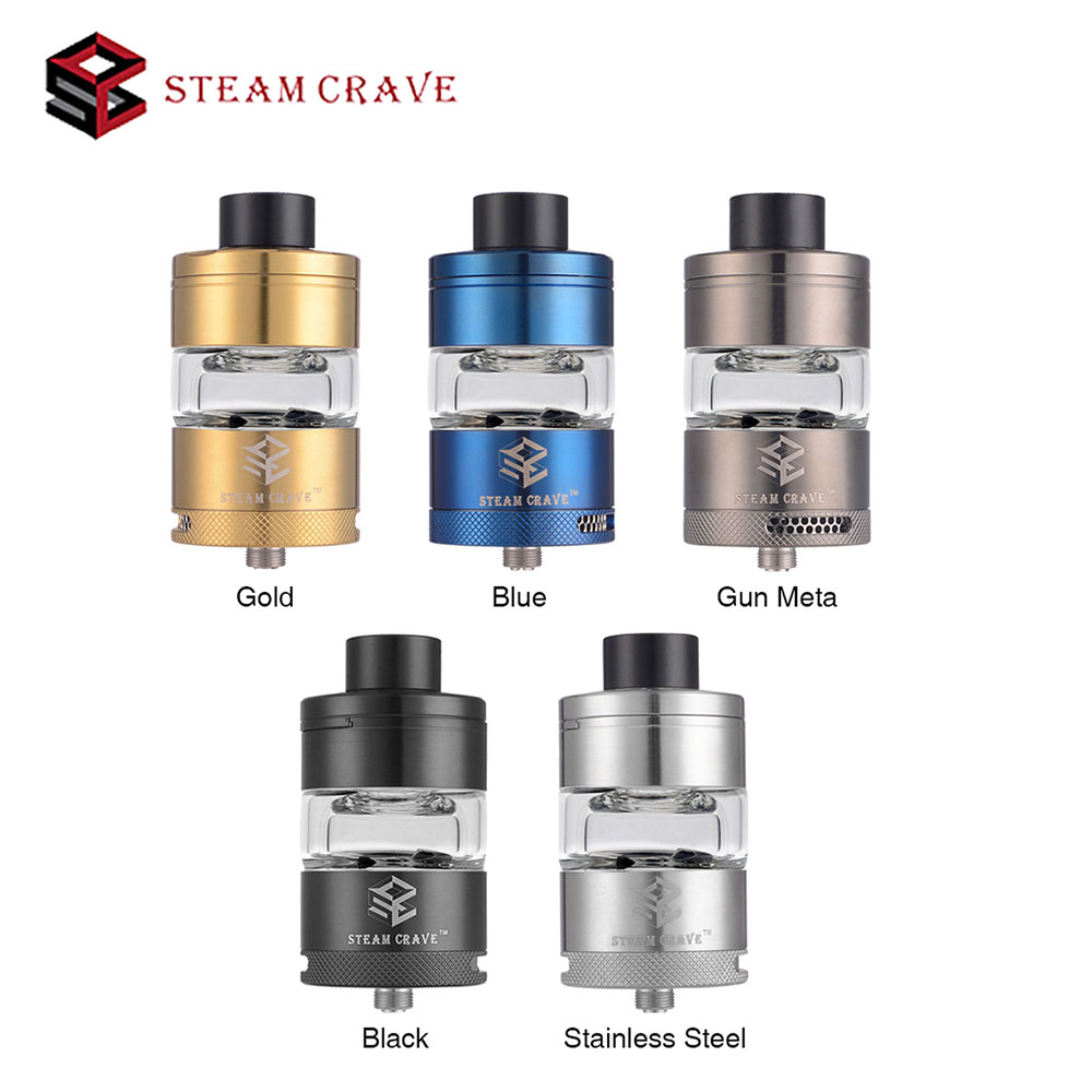 Steam Crave Glaz RTA Tank 7ml with Sliding Top Cap Refill Design for Ultimate Flavor Chasing VS Steam Crave Aromamizer Supreme latest original steam crave glaz rta 31mm with spare 7ml glass bottom angled airflow design atomizer 7ml pc tank vaporizer
