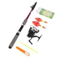 1 5M 1 8M Outdoor Fishing Tool Set Compelet Starter Junior Beginner Fishing Rod Reel
