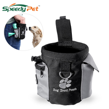 Hands Free Dog Treat Pouch Pet Training Waist Bag Drawstring Carries Toys Food Poop Snack For Outerdoor Travel