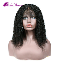 Brazilian Kinky Curly Full Lace Wig Virgin Hair Short Wig For Black Women Curly Wave Gluesless Full Lace Human Hair Wigs