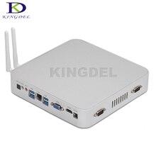 Новые прибыл Intel Celeron N3150 Quad Core мини-компьютер HDMI VGA 2 * COM rs232 WIFI 3D игры поддержка Безвентиляторный HTPC
