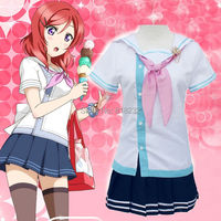 Love Live Nishikino Maki Navy Sailor Suit School Uniform Dress Outfit Anime Cosplay Costumes