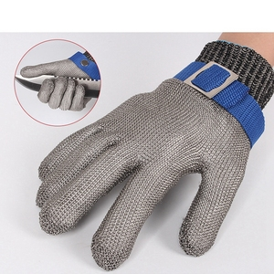 Image 2 - Stainless Steel Wire Safety Gloves Safety Anti cut Stab Resistant Work Gloves Cut Metal Mesh Butcher Anti cutting Work Gloves