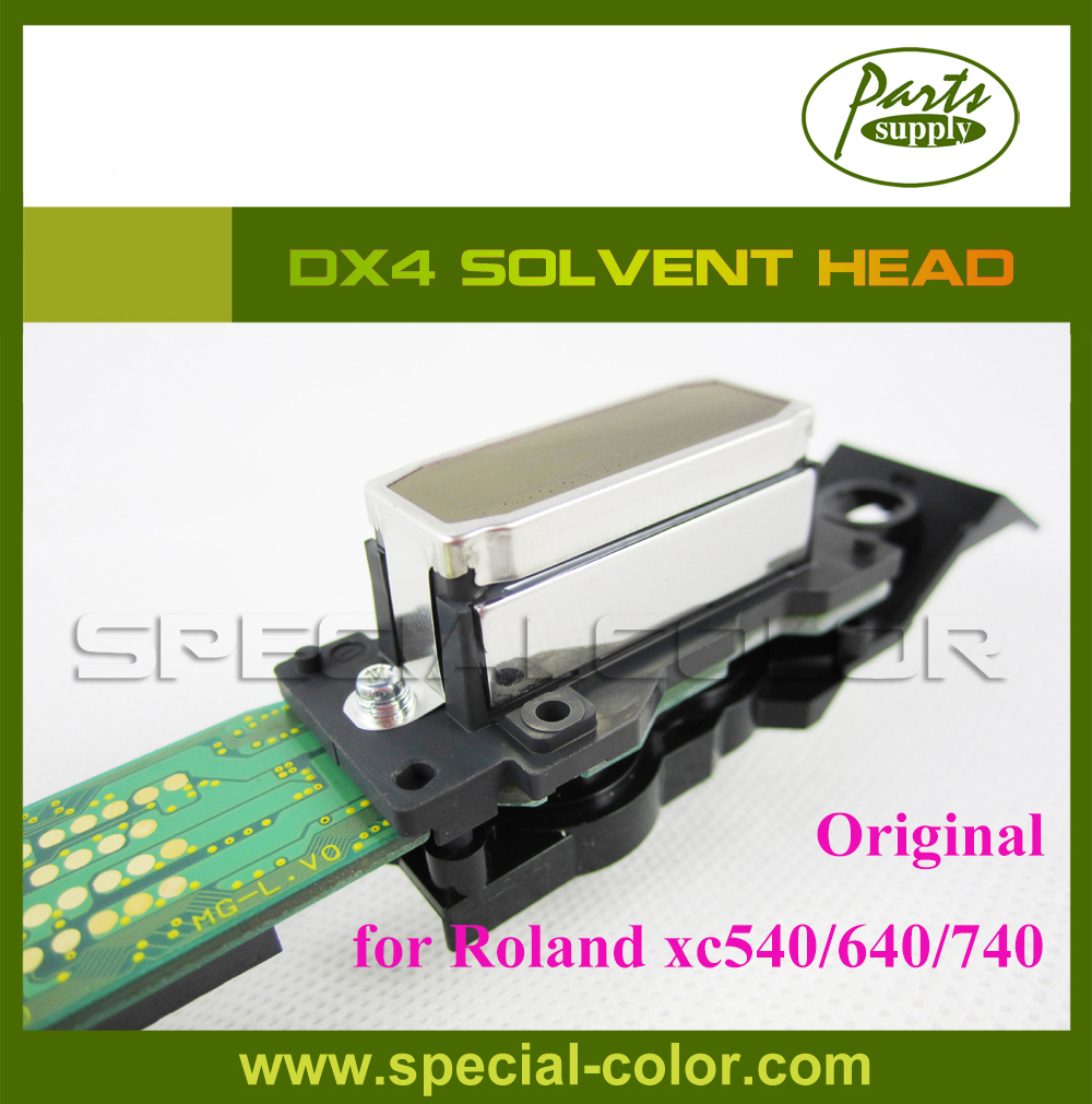 New original DX4 solvent printhead for roland XJ740/640/540 printer (Get 2pcs DX4 Small Damper as gift) get 4pcs dx4 small damper as gift original japan dx4 solvent printer head roland rs640 mimaki jv3 printhead