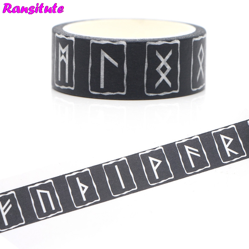 Ransitute R384 Vikings Washi Paper Tape Manual DIY Decorative Paper Tape Book Decoration Hand Account Sticker Traffic Tape