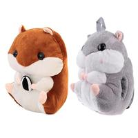 Cartoon Hamster Doll Toy With Blanket Plush Backpacks Cute Hamster Doll Backpack Plush Kids Baby Toy