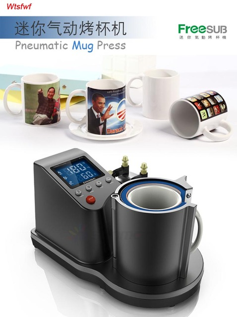 Wtsfwf New Ariival ST-110 Pneumatic Mug Press Printer Machine 2D Digital Thermal Mug Printer