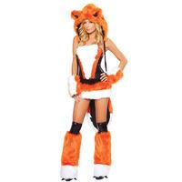 Adult Sexy Fox Costume For Women Halloween Animal Theme Fantasia Fancy Dress