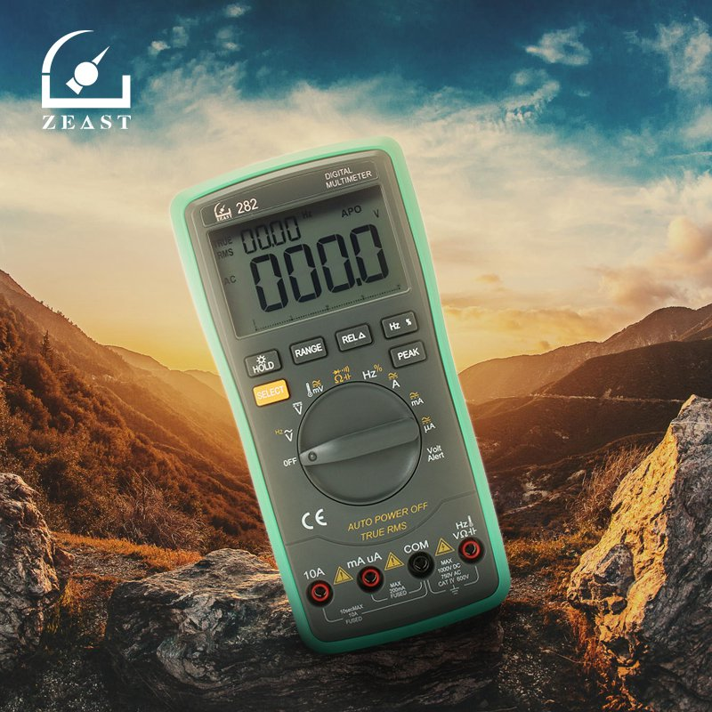 Zeast 282 Digital Multimeter 20000counts True RMS 4 1/2 Auto Range Voltmeter Current Ohm Resistance Diode Temperature Continuity