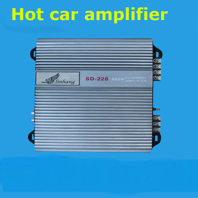 Cheap Big power Car audio power amplifier support U disk SD card 200Wx2