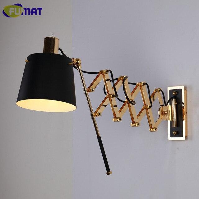 FUMAT Flexible Mur Lampes Américain Noir Mur Luminaire Salon Bar ...