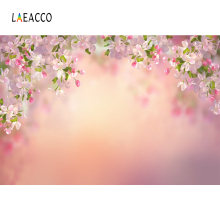 Laeacco Dreamy Flowers Branches Bröllopsfest scenfotografier Bakgrunder Custom Photographic Backdrops For Photo Studio