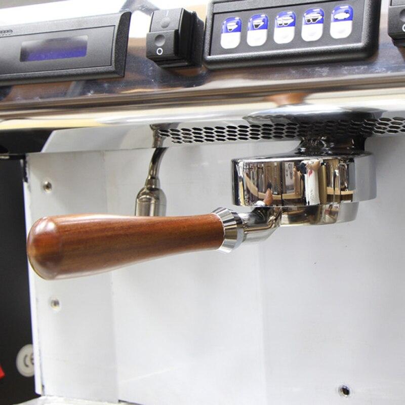 Poignée de Machine à café EXPOBAR Aibo E61 Dalbergia bois massif sans fond 58MM tête de brassage poignée de filtre universelle sans fond-in Tasseurs à café from Maison & Animalerie    3