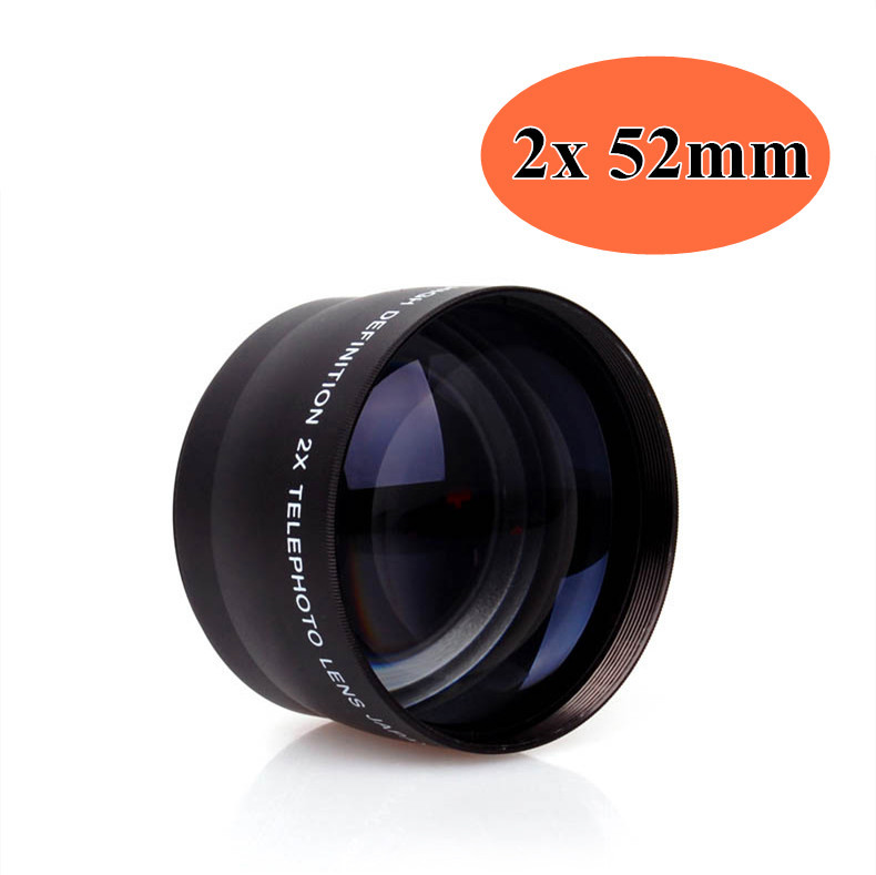 2X 52mm High Speed Telephoto <font><b>Lens</b></font> Tele Lente for Nikon AF-S DX <font><b>18</b></font>-55mm,AF-S 55-<font><b>200mm</b></font> Canon <font><b>Sony</b></font> image