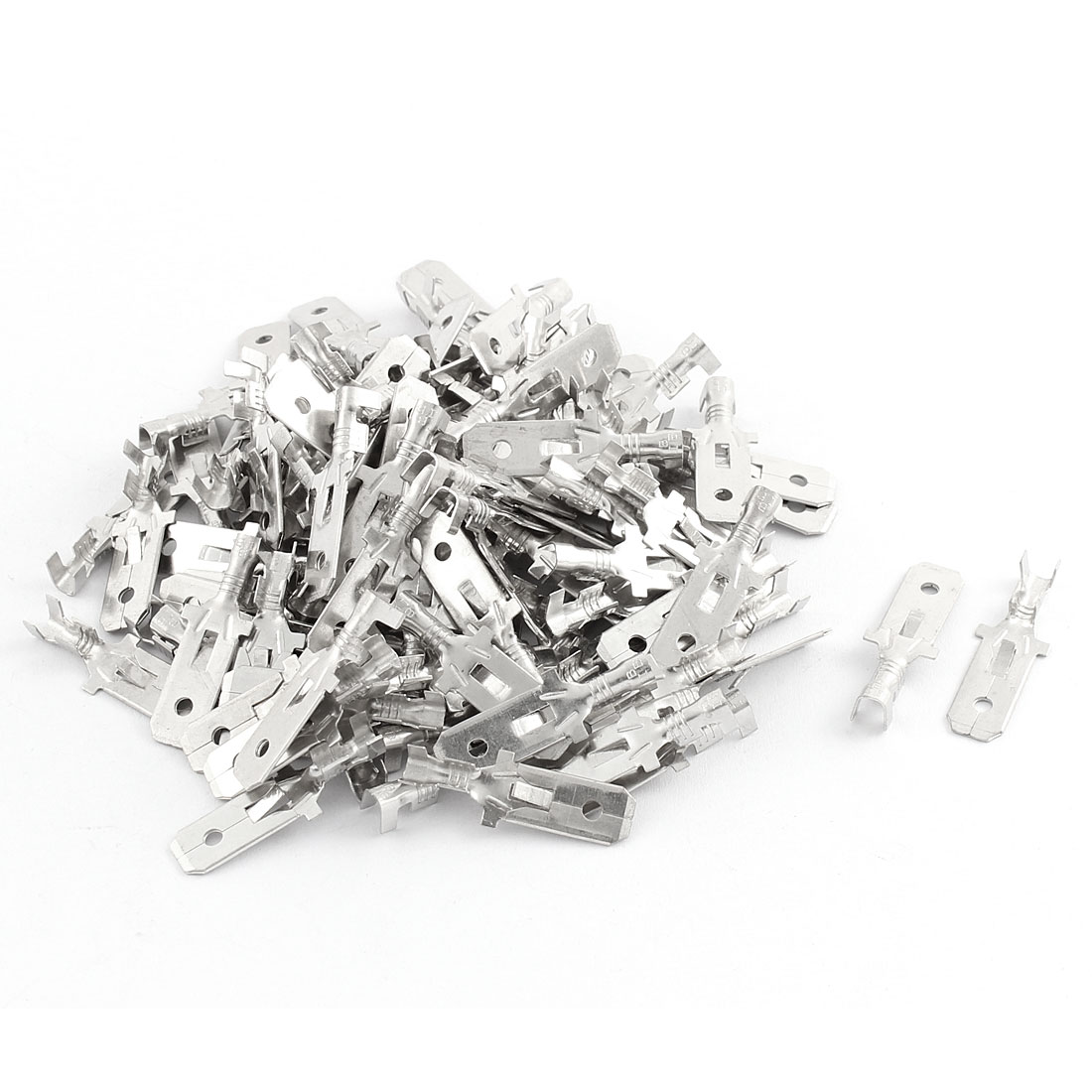 100 Pcs Metal 7.8Mm Male Spade Terminal For Nylon Mult Pin